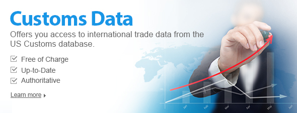 Customs Data: Offers you free trade data from US Customs